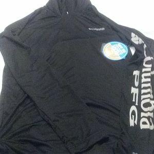 Columbia Fishing PFG black hooded shirt nwt sz S